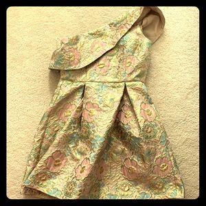 Floral jacquard party dress